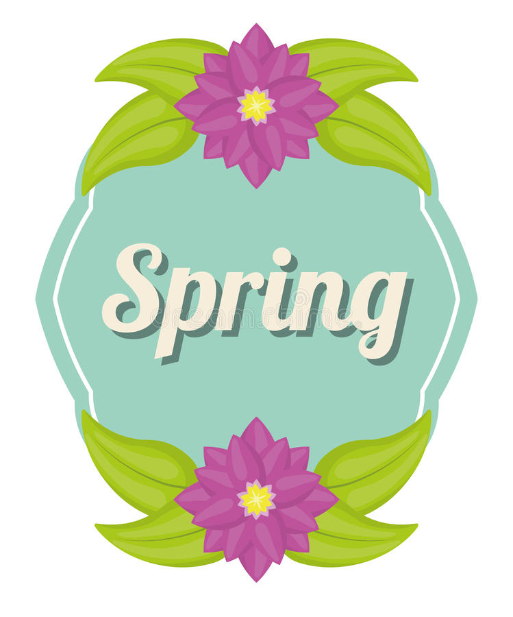 Spring season design. Spring concept with flowers design, vector illustration 10 eps graphic stock illustration