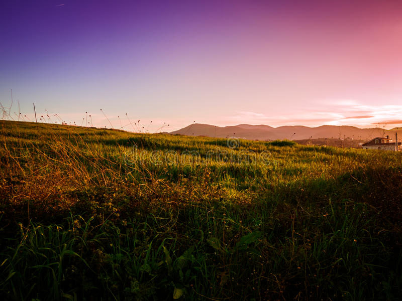 Spring Season Natural Landscape. Natural landscape environment of Marmara region of the country Turkey during the Spring season royalty free stock images