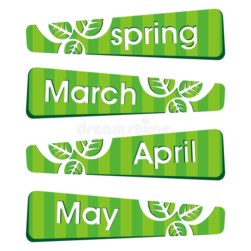 Download Spring Season Stickers And Label Stock Vector - Image: 23327334
