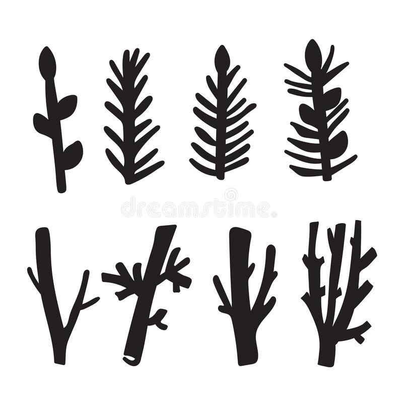 Tree. Collection Of Design Elements Stock Vector