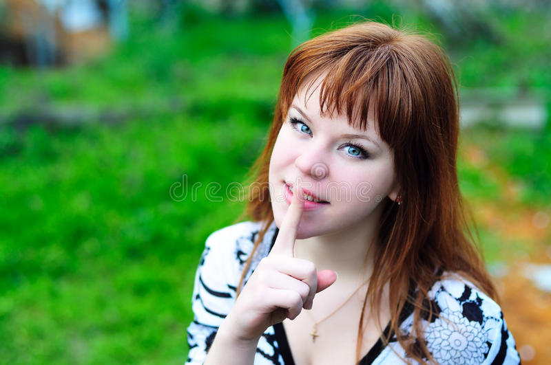 Download Spring shhh stock image. Image of quiet, sensual, hushed - 13894283