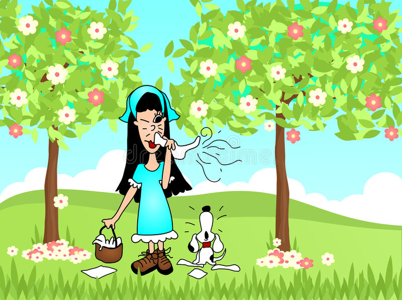 Download Spring Sneeze Allergies stock illustration. Image of allergy - 32240811