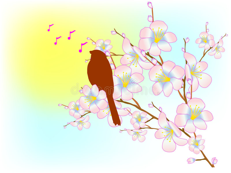 Download Spring song stock vector. Illustration of blue, illustration - 8100693