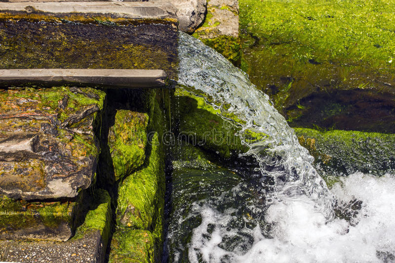 Spring source of clean water stock photography