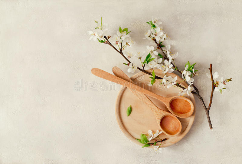 Spring spa concept. Spa concept, spa background, stylized photo, top view royalty free stock images