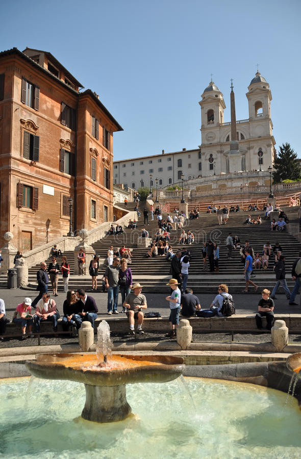 Spring at the Spanish Steps, Rome Italy stock photo
