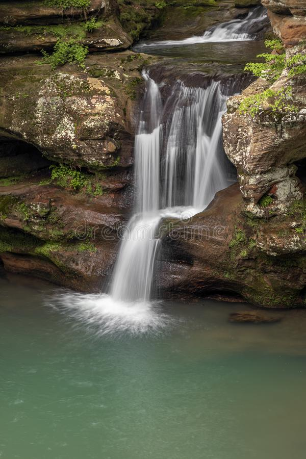 Spring Splash - Upper Falls at Old Man`s Cave royalty free stock photos