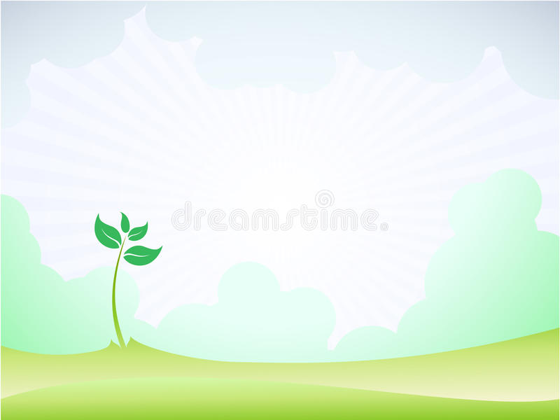 Spring sprout shoot pattern vector illustration