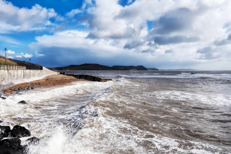 Spring Storms - Lyme Regis royalty free stock photo