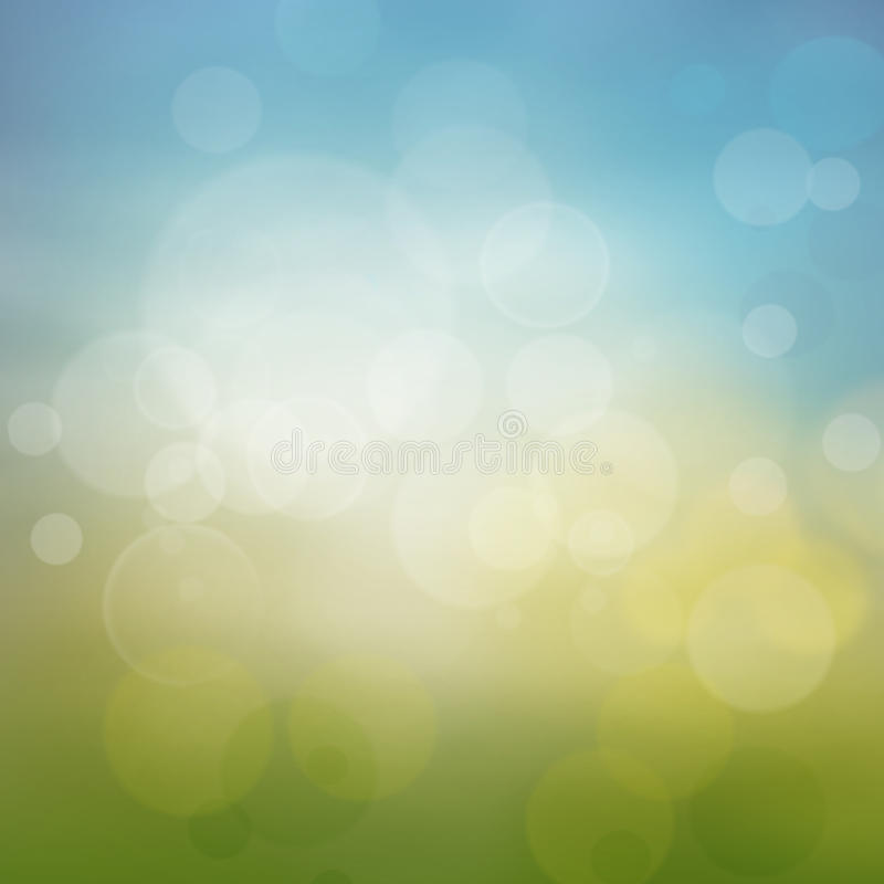 Spring or summer abstract season nature background. With nature colors and bokeh lights