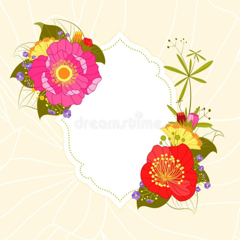 Spring summer colorful flower garden party background stock vector spring summer colorful flower garden party invitation card stopboris Choice Image