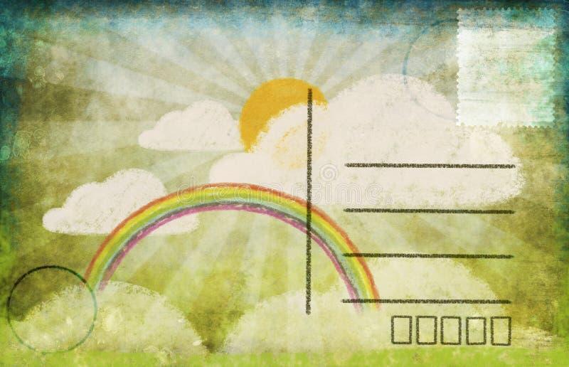 Download Spring and summer postcard stock illustration. Illustration of postage - 22913728