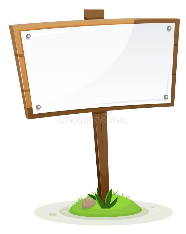 Spring Or Summer Rural Wood Sign vector illustration
