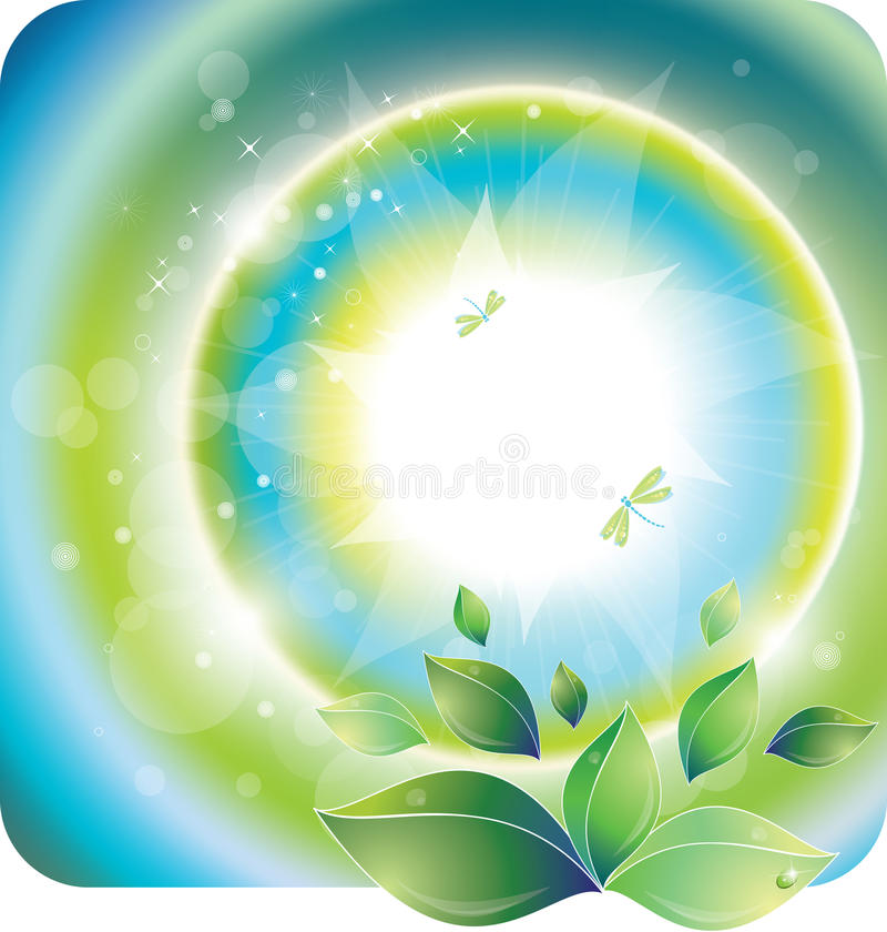 Download Spring sunlight stock vector. Image of design, dragonfly - 23675604