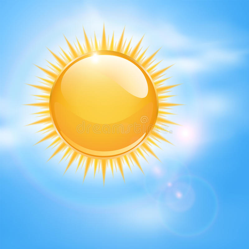 Spring, sunny background stock illustration