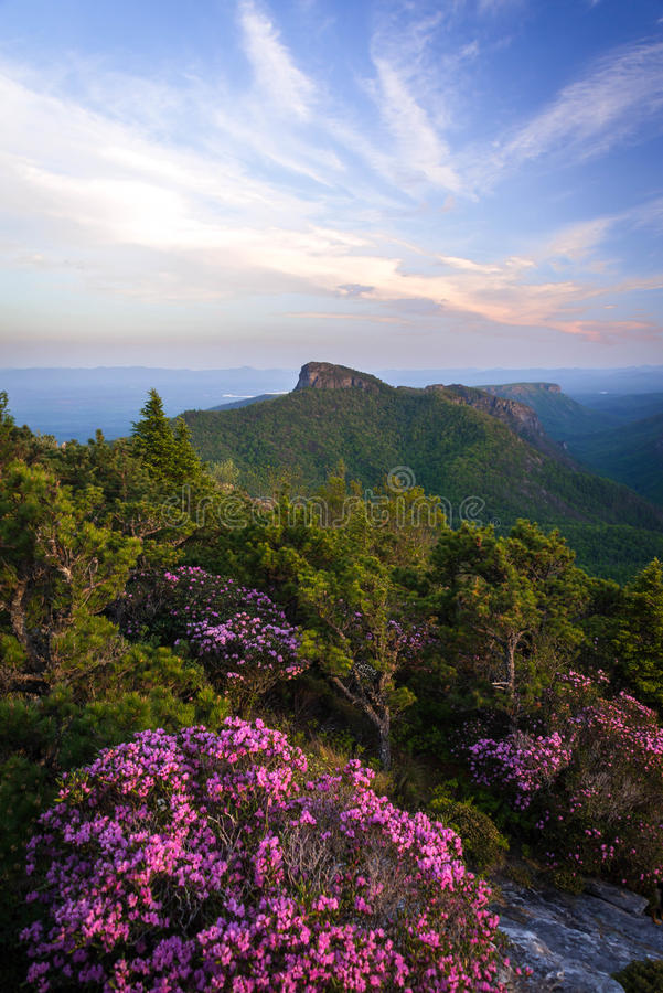 Free Spring Sunrise In The Blue Ridge Mountain 2 Stock Image - 56420311