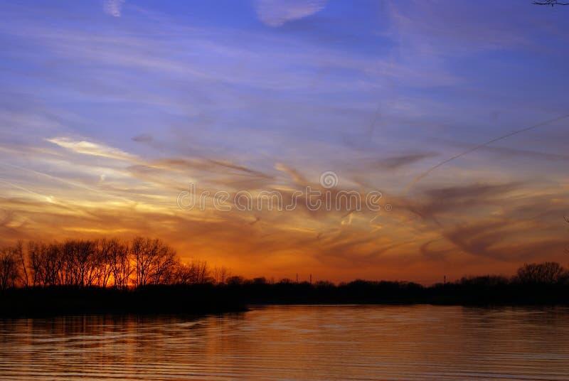 Spring Sunset stock photos