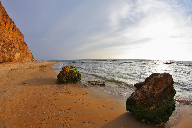 Download The Spring Sunset On Mediterranean Sea Royalty Free Stock Photos - Image: 10612378