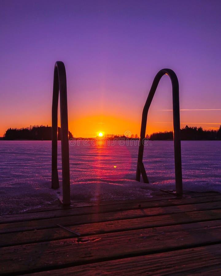 Spring sunset royalty free stock photos