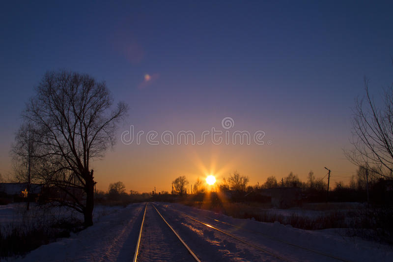 Spring sunset royalty free stock image