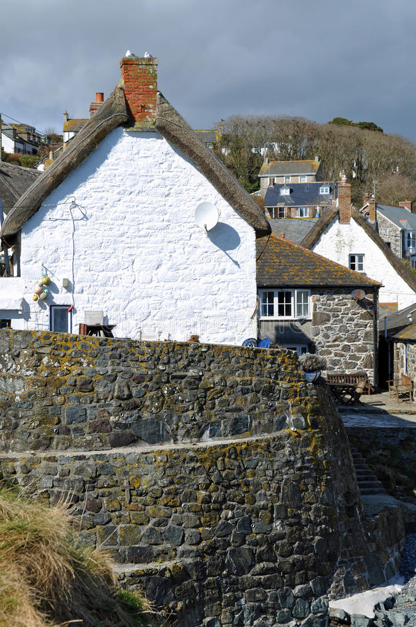 Cadgwith Cove Cornwall stock photos