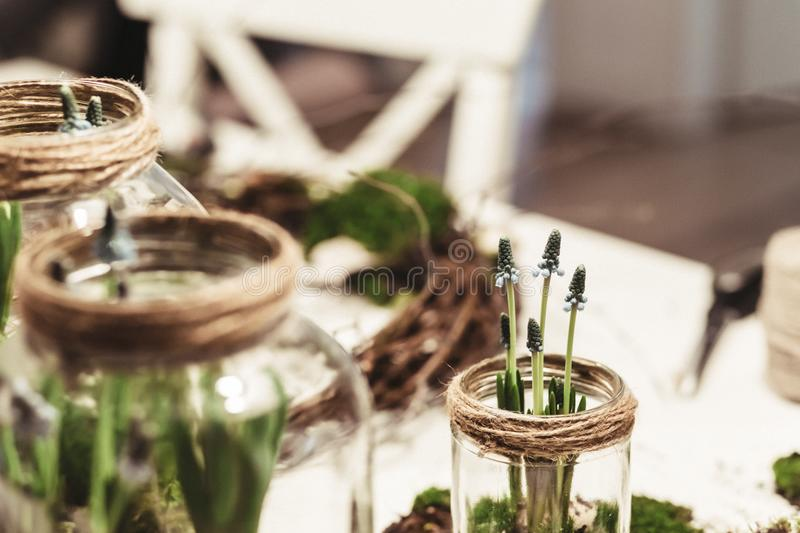 Spring table decoration royalty free stock photos
