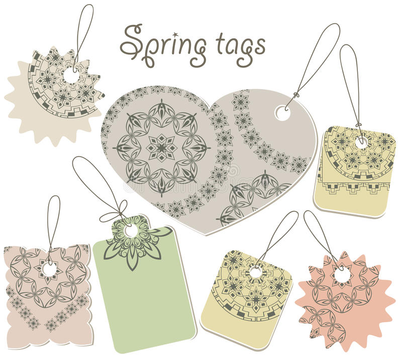 Download Spring tags stock vector. Illustration of beige, paper - 23837722