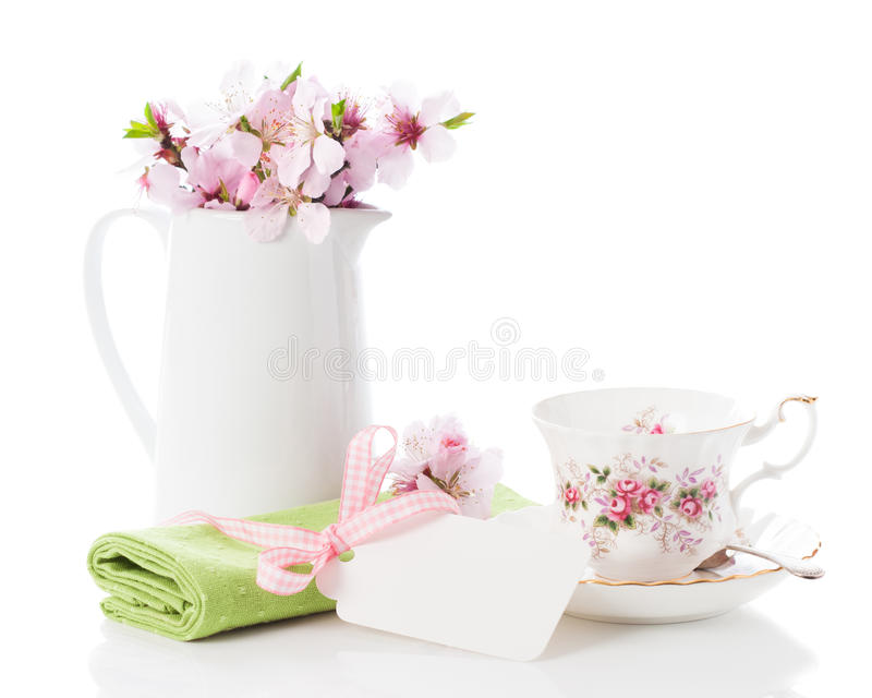 Download Spring Teacup Setting stock photo. Image of flowers, greeting - 23853502
