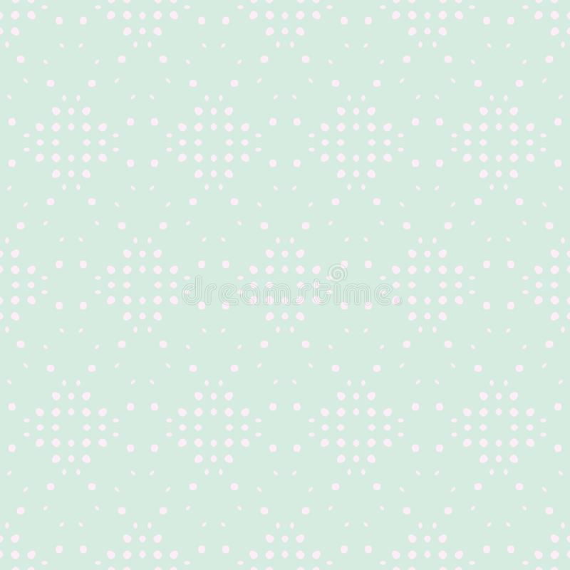 Spring Tender Colorful Seamless Pattern. Circles, Spots and Dots Endless Textures. Perfect for Pastel Background and Surface stock illustration