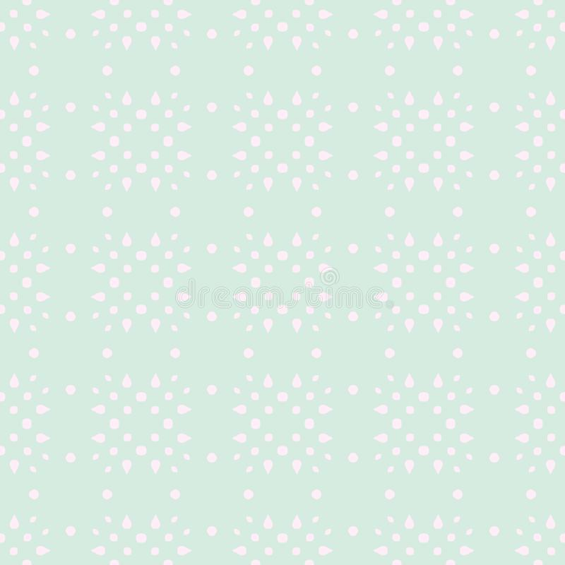 Spring Tender Colorful Seamless Pattern. Circles, Spots and Dots stock illustration
