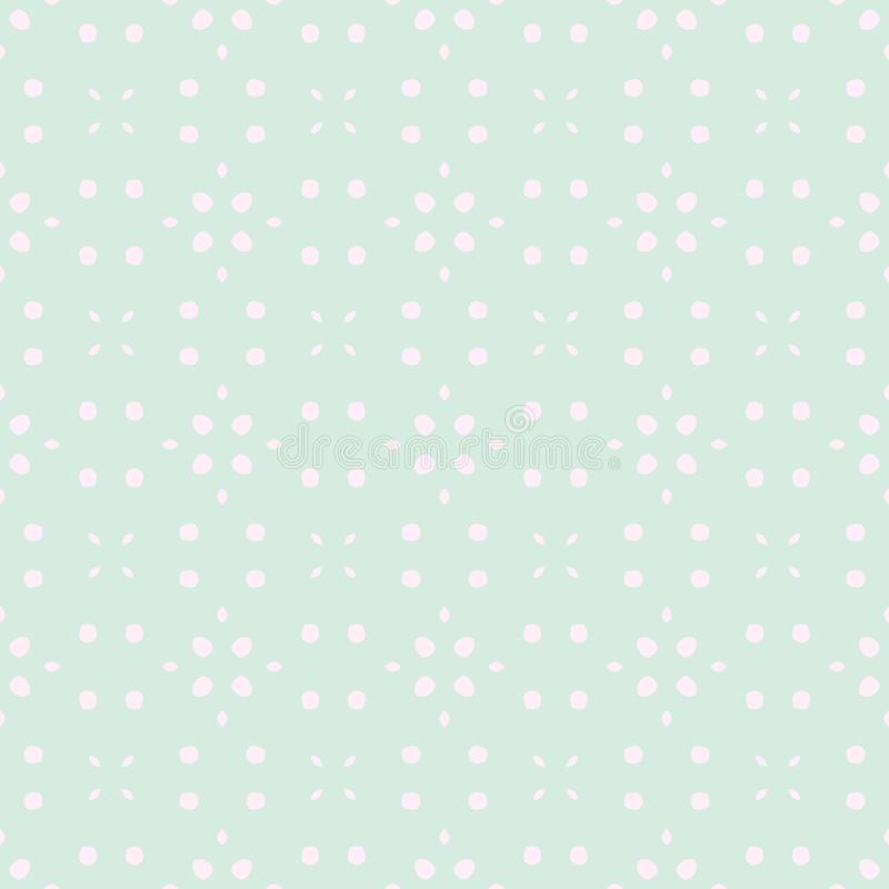 Spring Tender Colorful Seamless Pattern. Circles, Spots and Dots royalty free illustration