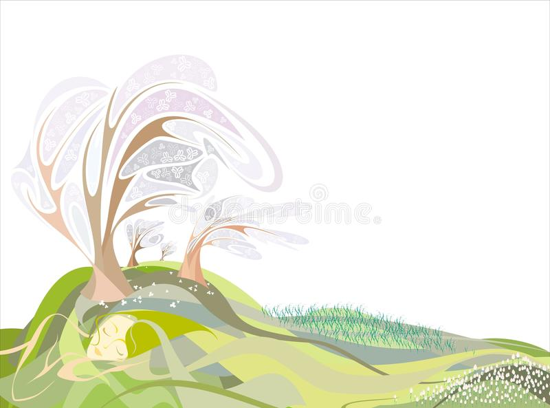 Spring time stock illustration
