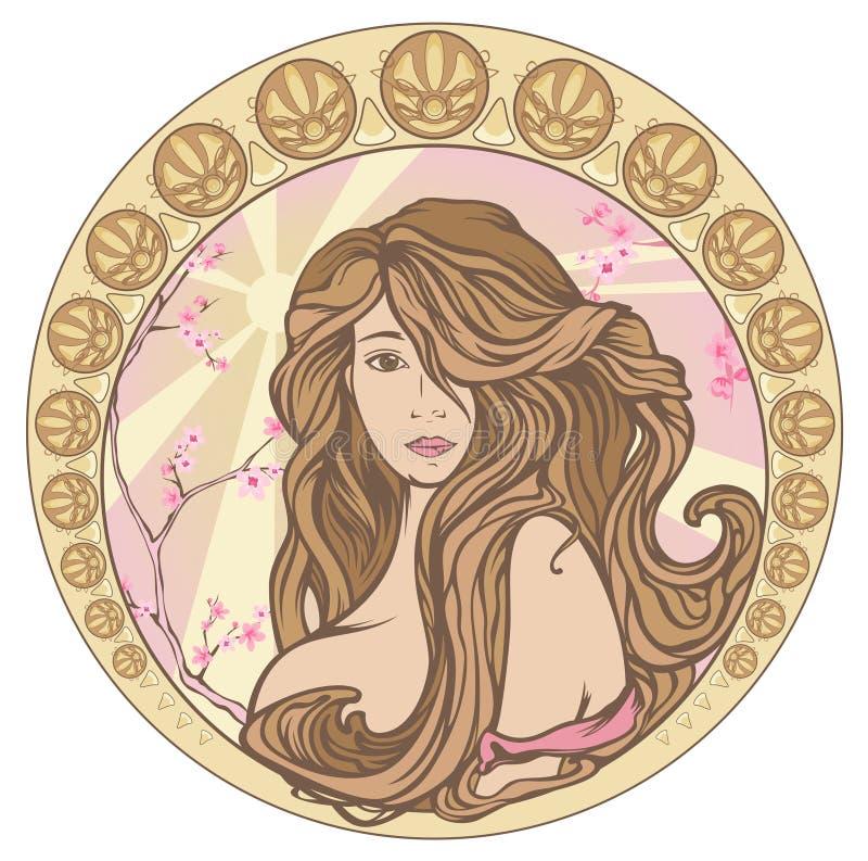 Art Nouveau spring vector royalty free illustration