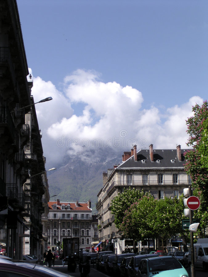 Spring time in Grenoble 1 stock images