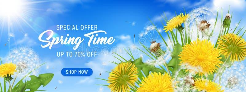 Spring Time Horizontal Poster royalty free stock photo