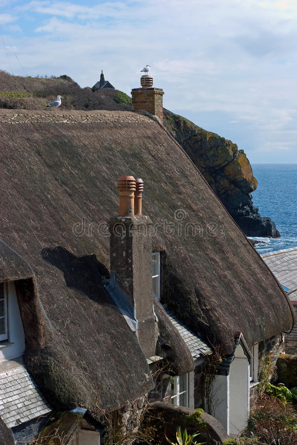 Cadgwith Cove Village Cornwall stock photography