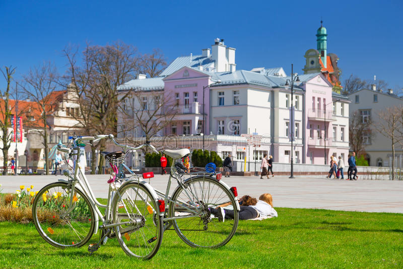 Spring Time On The Square In Sopot, Poland Editorial Image