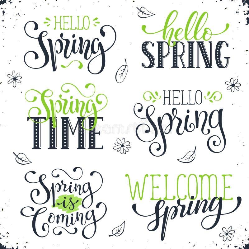 Free Spring Time Wording Stock Photos - 69142353