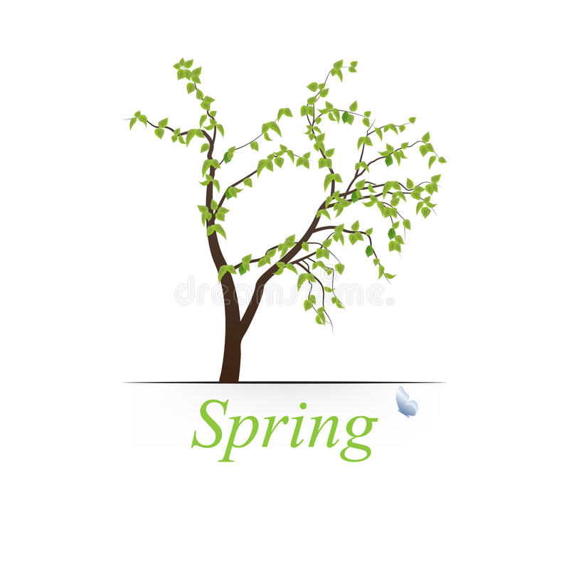 Spring tree. Illustration. This is file of EPS10 format stock illustration