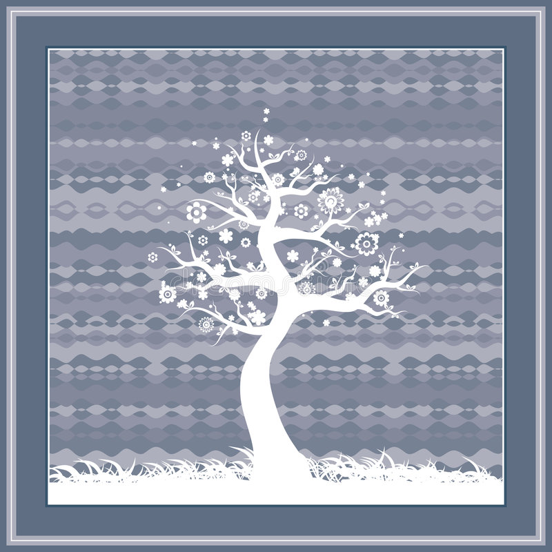 Download Spring tree, vector stock vector. Illustration of front - 1981129