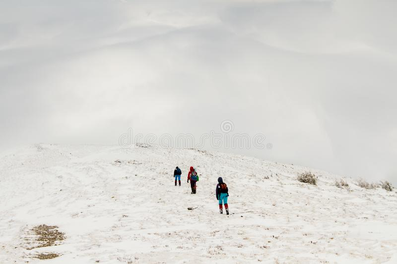 Spring trekking in the mountains royalty free stock photo