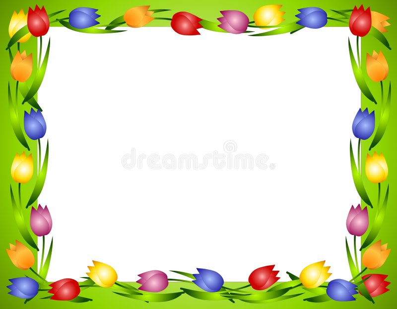 Download Spring Tulips Flower Frame Or Border 2 Royalty Free Stock Photos - Image: 4026128