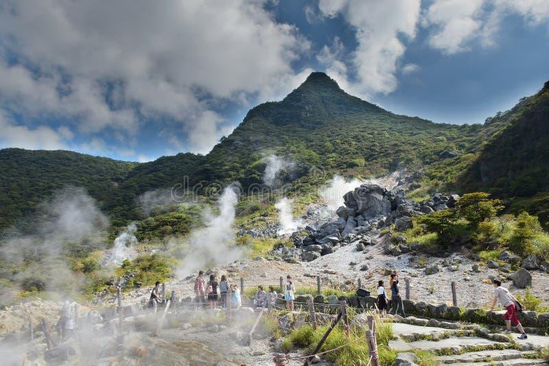 Spring Valley quente em Hakone, Japão imagem de stock royalty free