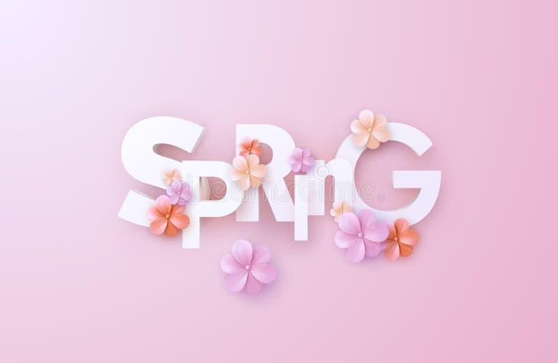 Spring. Vector realistic 3d illustration. stock illustration