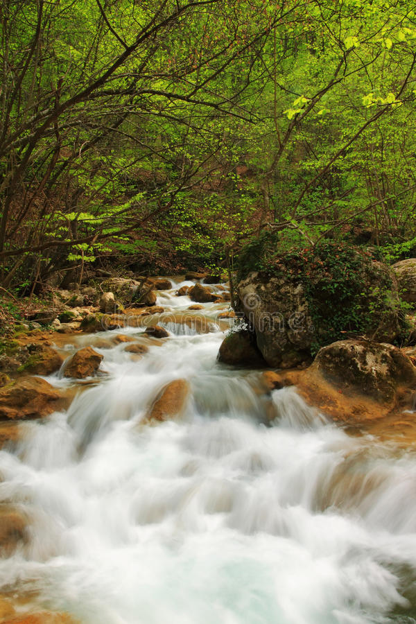 Download Spring waterfall stock image. Image of edges, fisherman - 19451413