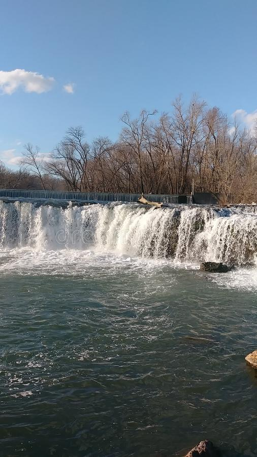 Spring Waters by Christina Farino Waterfall in Spring Joplin Missouri Christina Farino Waterfall in Spring stock photography