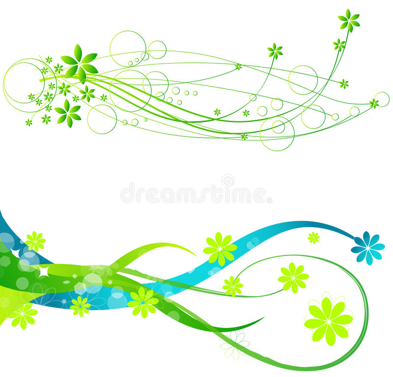 Spring web banners. Vector set of beautiful floral spring web banners