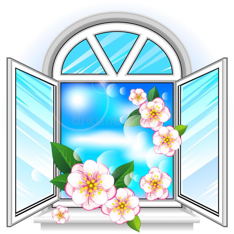 Download Spring window stock vector. Image of domestic, concept - 24524700