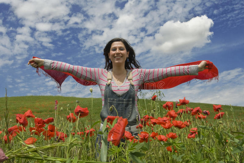 Download Spring woman stock photo. Image of smile, spring, green - 22525606
