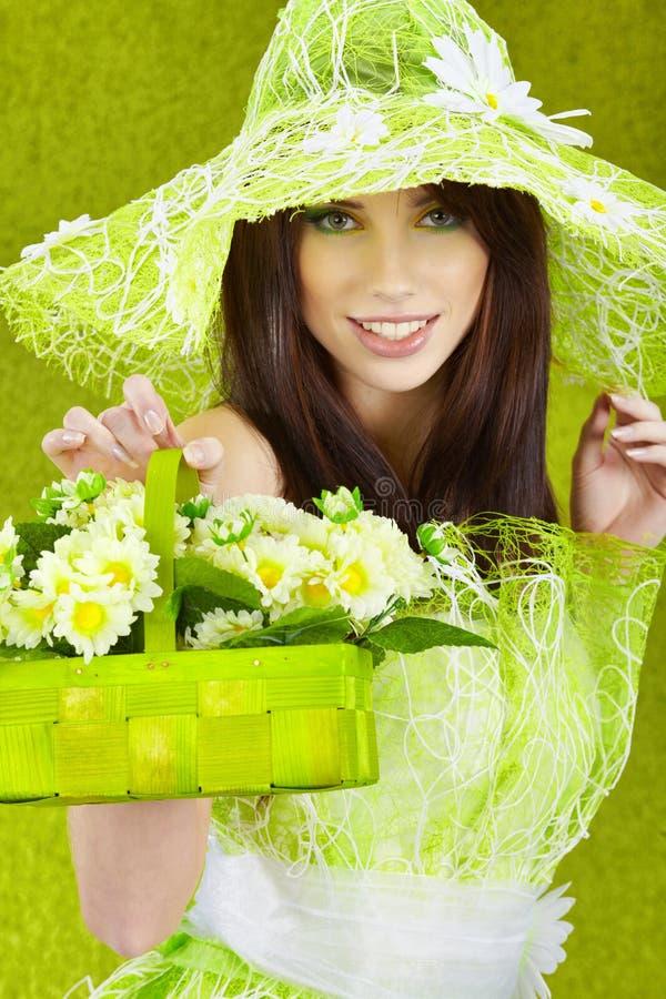 Spring woman portrait. stock image